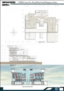2nd floor plan and North elevation