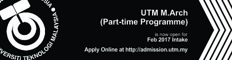 UTM M.Arch Part Time Programme Now Open for Applications!
